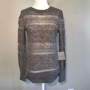 NWT New York Laundry Gray Wool Blend Sweater